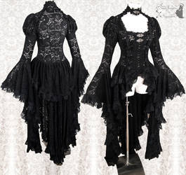 Black Robe lace waistcoat, Somnia Romantica by SomniaRomantica