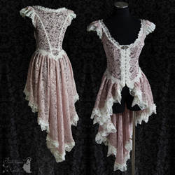 dusty pink lace over dress by SomniaRomantica