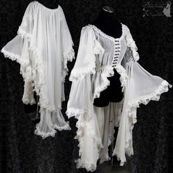 Ghostly voile robe gothic novel, victorian by SomniaRomantica