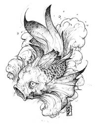 tattoo : koi ichi by fydbac