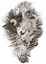 irezumi design: arm+hand 007-001 by fydbac