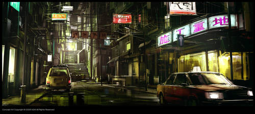 Dark_Street by Gryphart