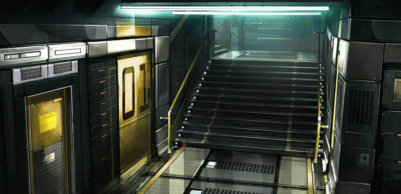 Deus ex 3 Stairscage by Gryphart