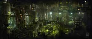 Batman Arkham Origins DLC Nightfall, Venom Lab. by Gryphart