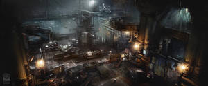 Batman Arkham Origins Final Offer Room. by Gryphart