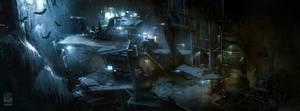 Batman Arkham Origins Batcave. by Gryphart