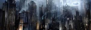 Batman Arkham Origins Gotham City. by Gryphart
