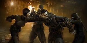 Batman Arkham Origins DLC Initiation Monastery Sce by Gryphart