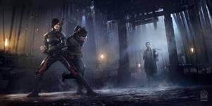 Batman Arkham Origins DLC Initiation Monastery Shi by Gryphart