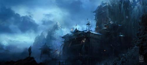 Batman Arkham Origins DLC Intiation Monastery. by Gryphart