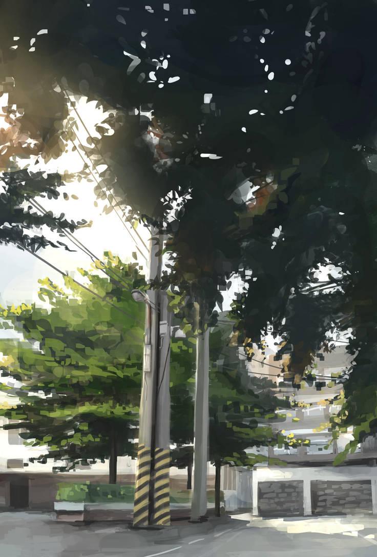 Bird in Trees by WindHydra