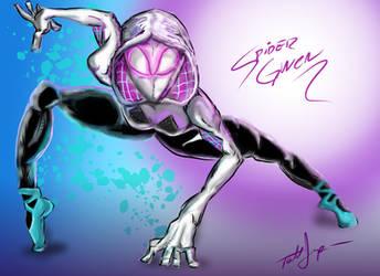 Spider-Gwen Sketch by ToddimusDesign