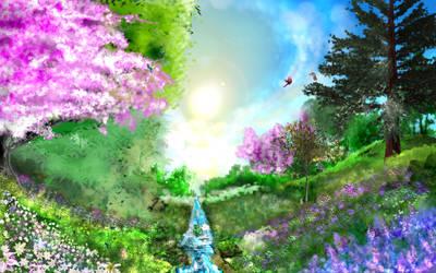 Valley of Light by ToddimusDesign