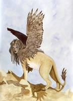 Sphinx Card by Ashalind