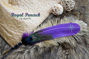 'Royal Peacock' Dip Quill Pen by Ashalind