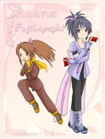 Ninja attack - Fujibayashi x2 by Moontoon