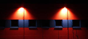 warehouse lights by bright