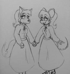 60s-70s Queenie and Mini by DorkyDarkwing