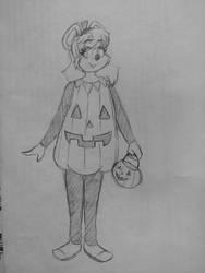 Pumpkin Mitzi by DorkyDarkwing