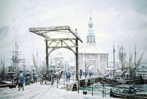 Fish port in Holland by voitv