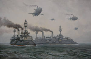 Fleet at sea by voitv
