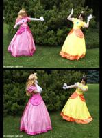 Peach and Daisy - Fighto by Rayi-kun