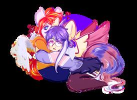 [YCH] Cookie and HeartFire by Zinovia-star
