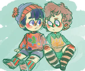 holiday sweaters by cookieyumster