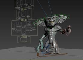 Gremlin - 3D Model - Rig Progress! by FoxHound1984