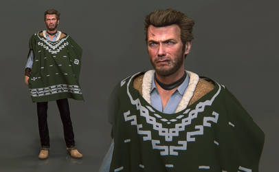 Man with No Name - Clint Eastwood 3D Animation/Rig by FoxHound1984