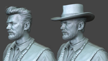 Man with No Name/Blondie - Clint Eastwood 3D Model by FoxHound1984
