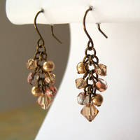 Bronze Cluster Earrings by lulabug