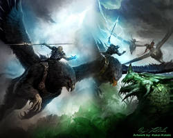 GW2 Wallpaper Gryphons by AngelicBond