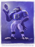 Baltimore Ravens Mascot Revisited by SpaceCadetBling