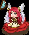 Smile Camellia-Chibi Tsubaki by Crystal-Alchemist-87
