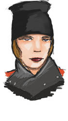 Femme avec un chapeau by Imeldouze