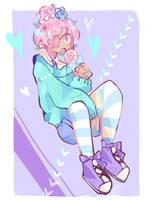 1 layer challenge    Pastel Girl by nedonutsu