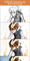 KHR - Tsuna Dying Will Steps by gem2niki