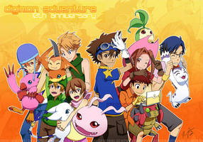 Digimon: 10th Anniversary by gem2niki