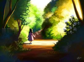 Girl in Path by gem2niki