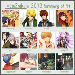 2013 Summary of Art by gem2niki