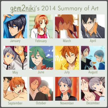 2014 Summary of Art by gem2niki