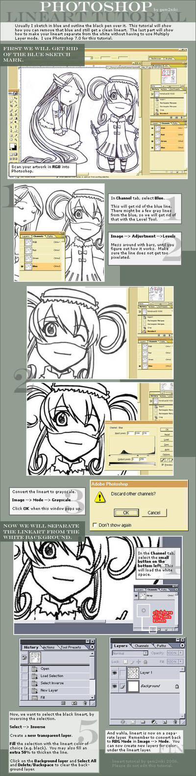 Lineart Tutorial by gem2niki