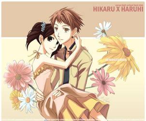 Ouran - Hikaru x Haruhi Daisy by gem2niki