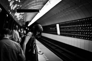 Waiting for a train by BandasPhoto