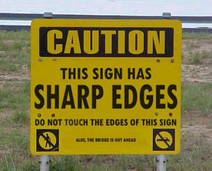 Sharp Sign by artmasterj