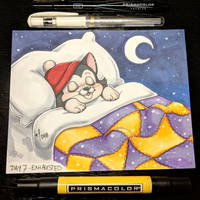 Inktober day 7 - Exhausted by StarSheepSweaters