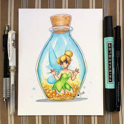 Inktober day 18 - Bottle by StarSheepSweaters