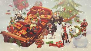 Christmas crash | Overwatch by motyrue