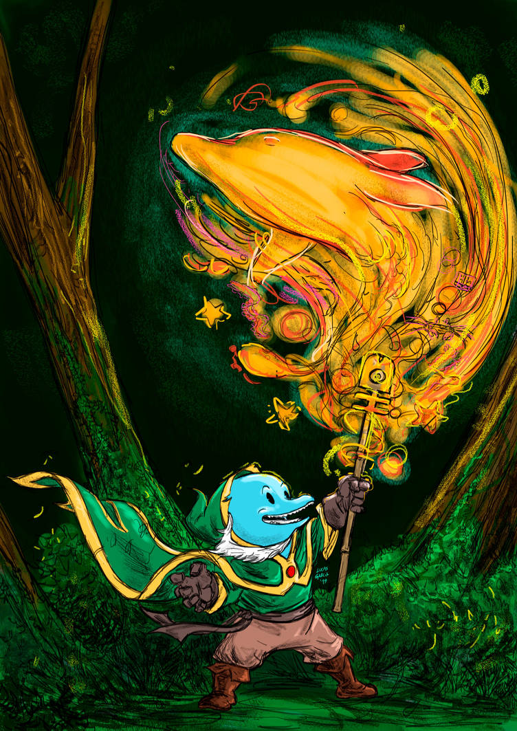 Fanart of Magician Dolphin by lucas-garcia